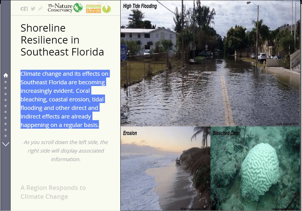 Southeast Florida Map.Shoreline Resilience In Southeast Florida Story Map Southeast