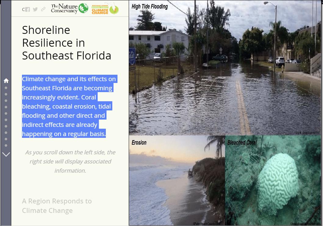 Map Of Southeastern Florida Coast.Shoreline Resilience In Southeast Florida Story Map Southeast