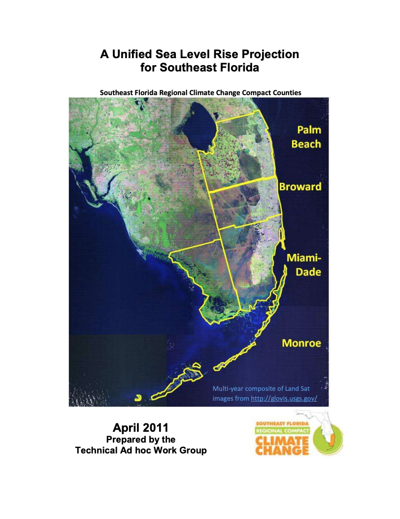 Unified Sea Level Rise Projections - Southeast Florida